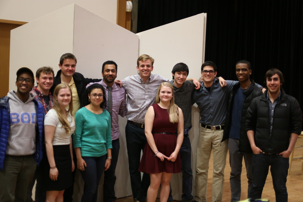 "Kal Penn poses with students following the event, ""An Evening with Kal Penn."""