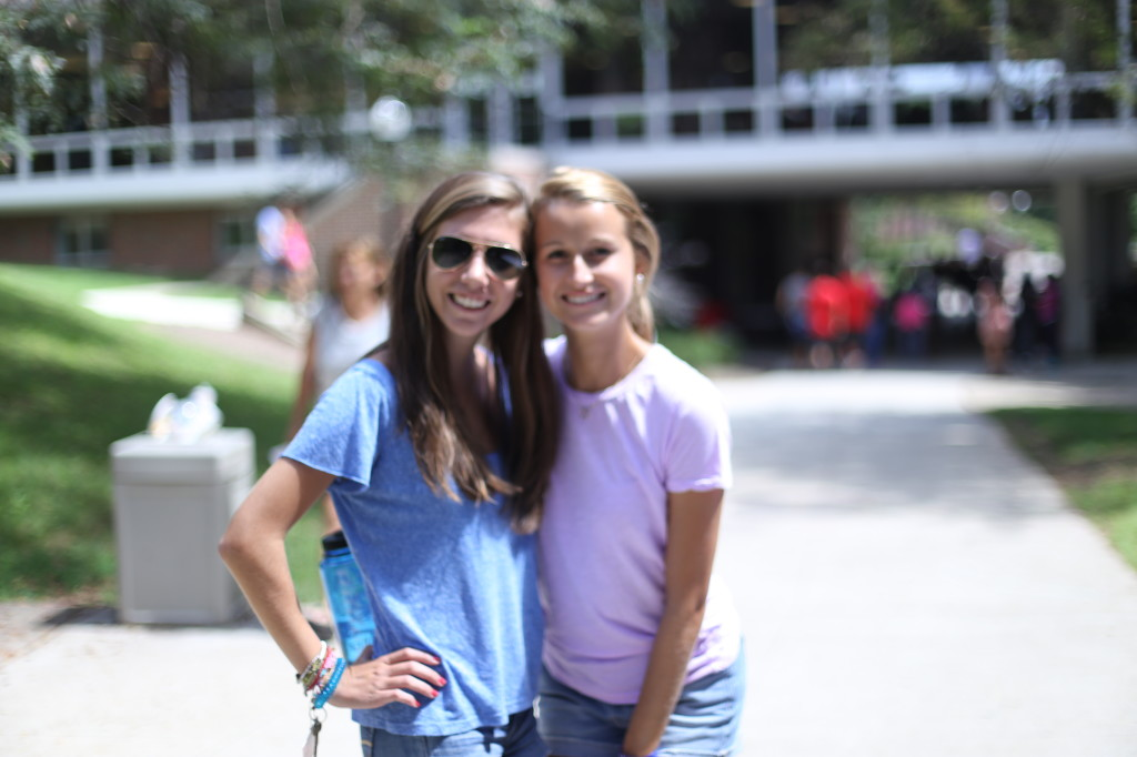 "Did you know each other before becoming roommates? In unison:  ""our parents went here and knew each other!"" Amanda Nye (Steve Nye '86) & Sophie Lovett (ksdjal'84)"