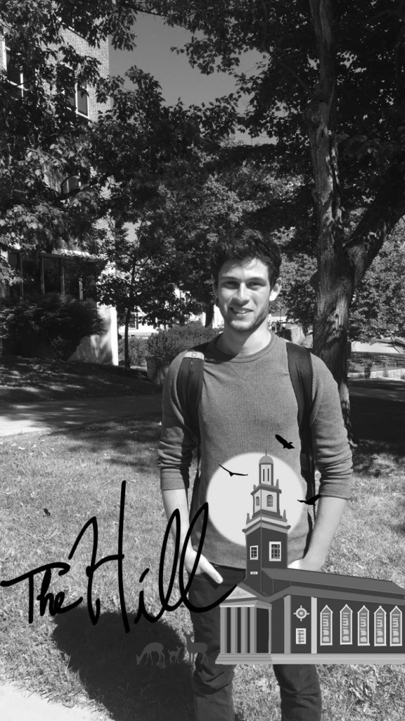 Snapchat geofilter artist, Mitchell Tijerina '18, is well versed in graphic design allowing  his creation to be accepted by the Snapchat Headquarters.