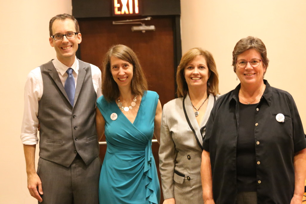 Female Orgasm presentors Marshall Miller and Dorian Solot pose with Whisler counselor Darlene Compton and the Director of Women and Gender Action, Marci McCaulay.